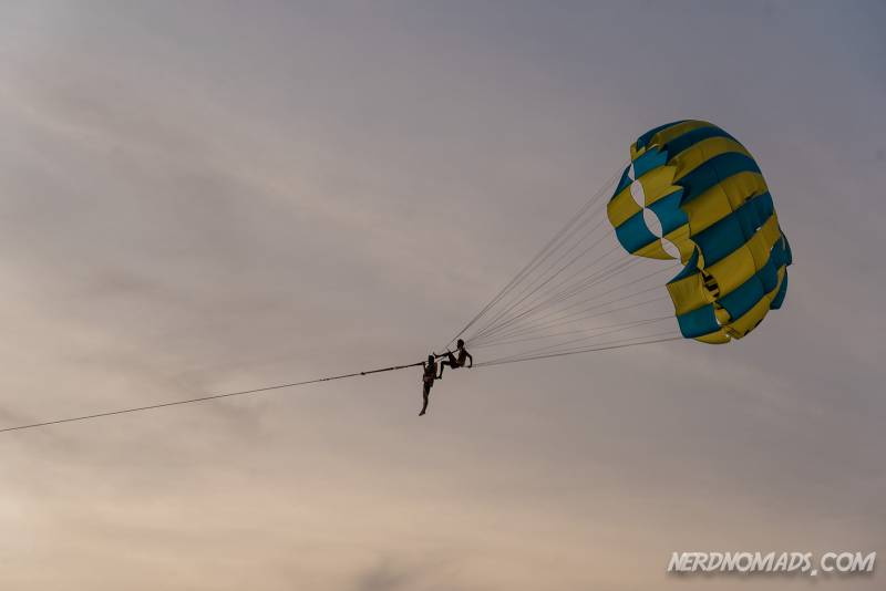 Parasailing is popular at Karon Beach Phuket