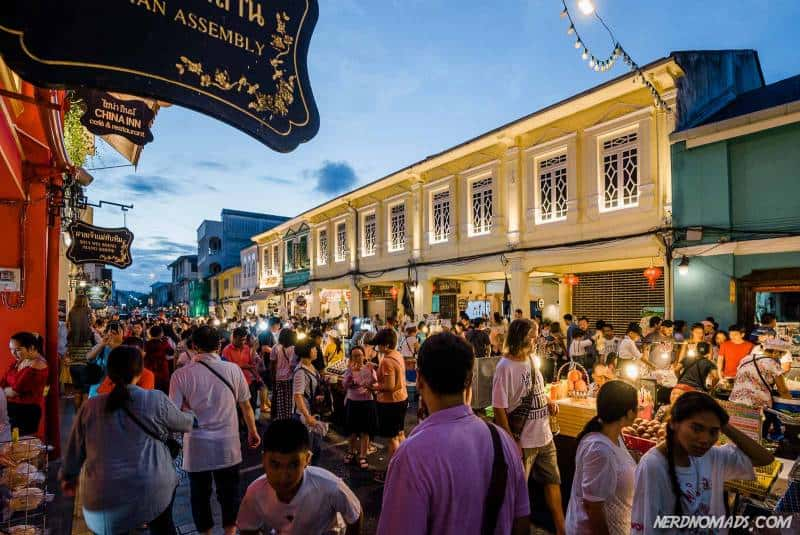 lively and colourful Sunday Walking Street Market in Phuket Town