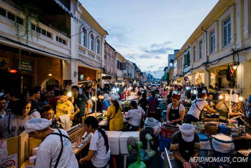 The Sunday Market in the Old Phuket Town is our favorite market in Phuket
