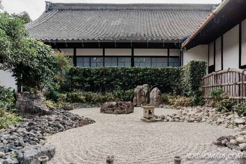 The lovely Zen rock garden at Shoren-in Temple in Kyoto