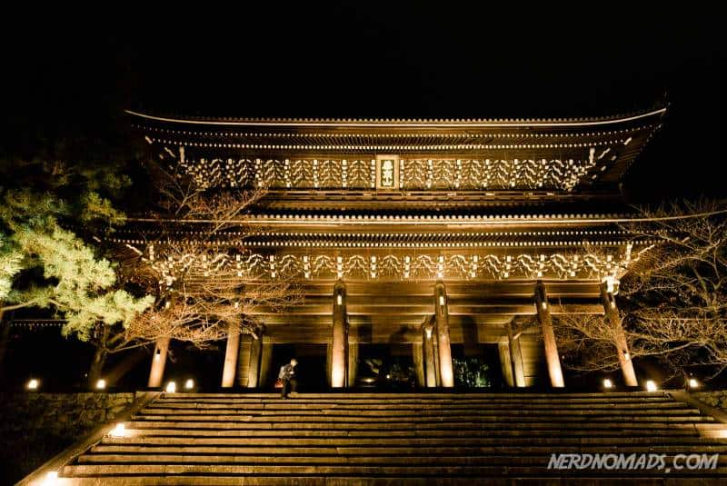 The grand entrance gate at Chion-in Temple Kyoto