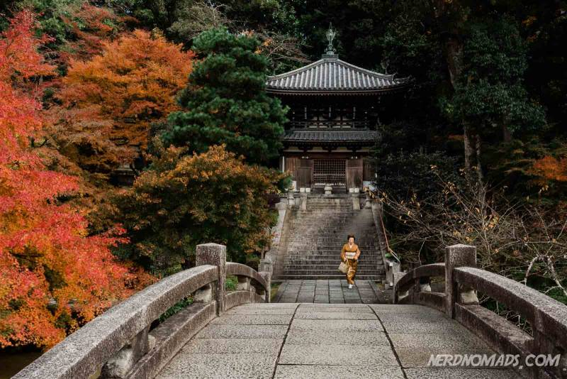 Chion-in Temple in Kyoto in autumn colors