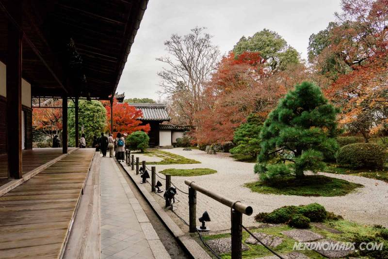 The lovely rock and sand Zen garden at Nanzenji Temple in Kyoto
