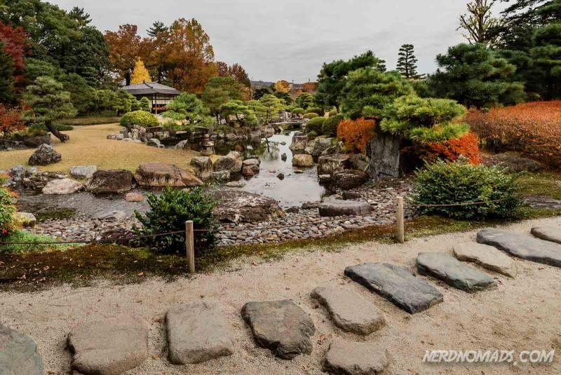 Seiryu-en Garden at Nijo Castle in Kyoto