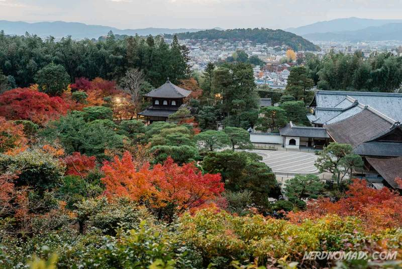 Stunning view from Silver Pavilion/ Ginkakuji Temple