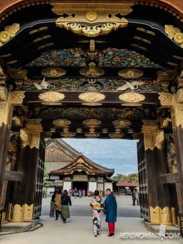 Entrance gate at Nijo Castle