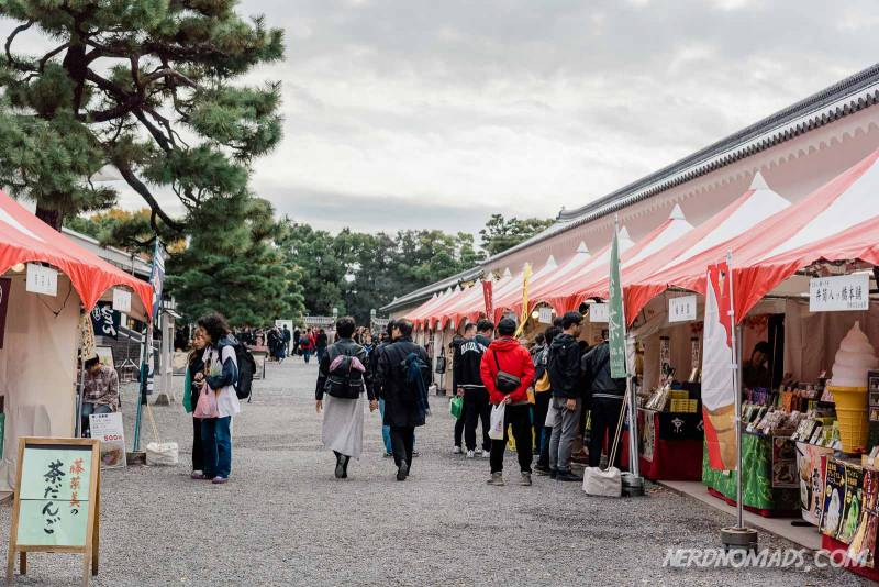 Shopping stalls at Nijo Castle