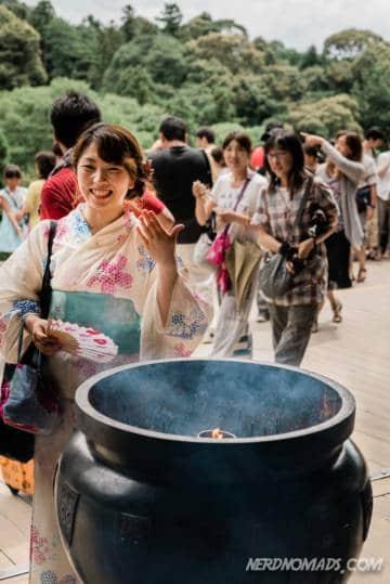Holy smoke at Kiyomizudera Temple