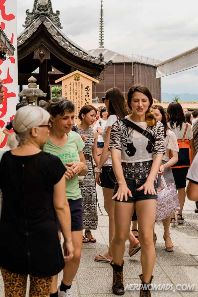 Walking to the Love Stone at Kiyomizu-dera Temple
