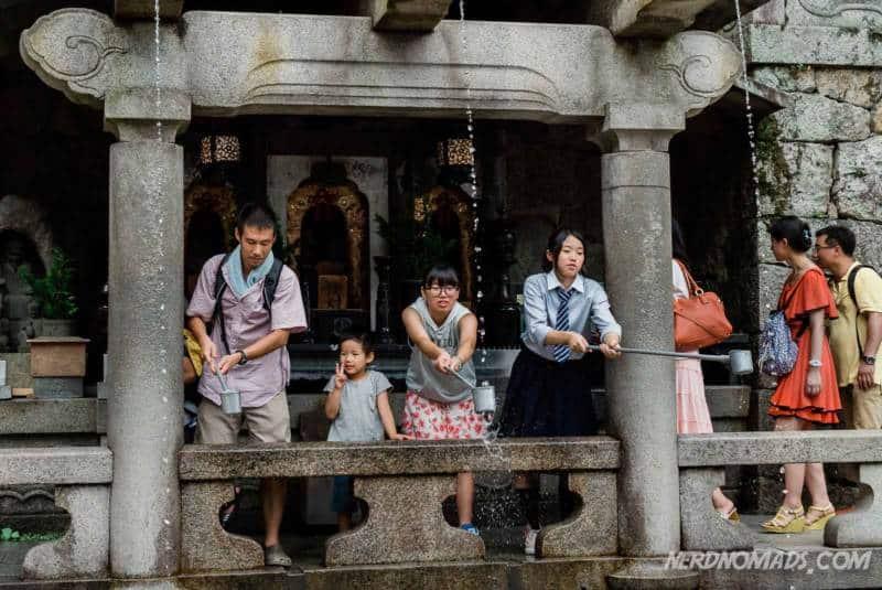 Otowa Waterfall at Kiyomizu-dera Temple