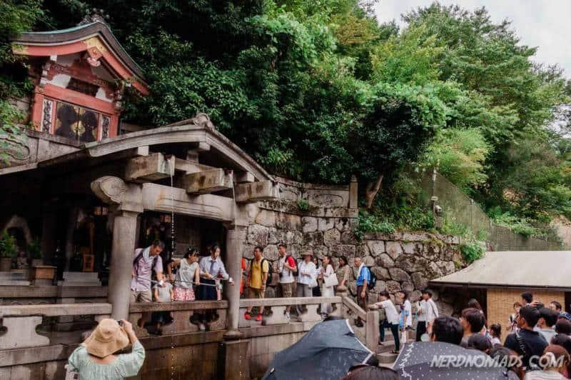 Otowa Waterfall at Kiyomizudera Temple