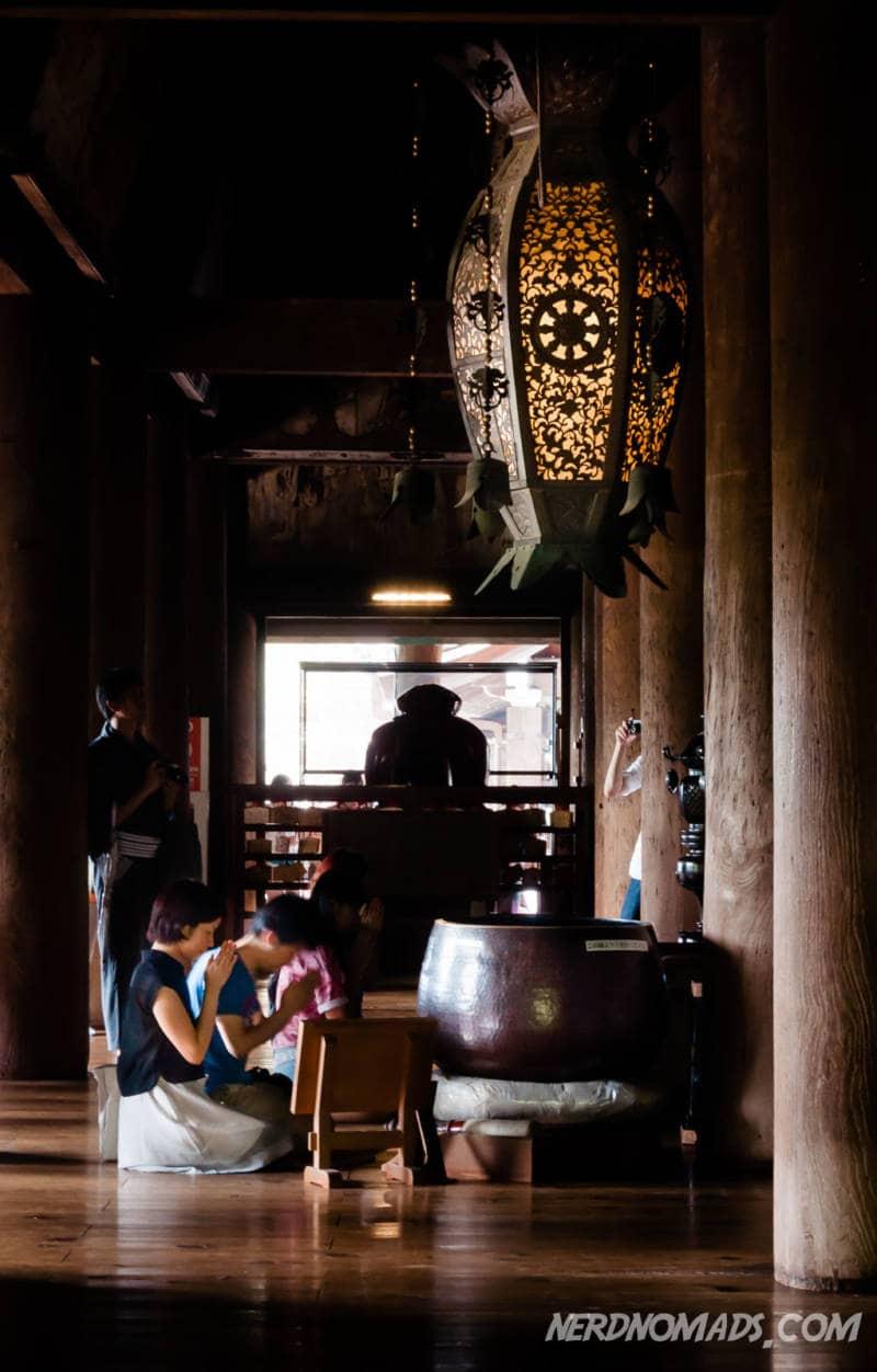 Praying at Kiyomizu-dera Temple
