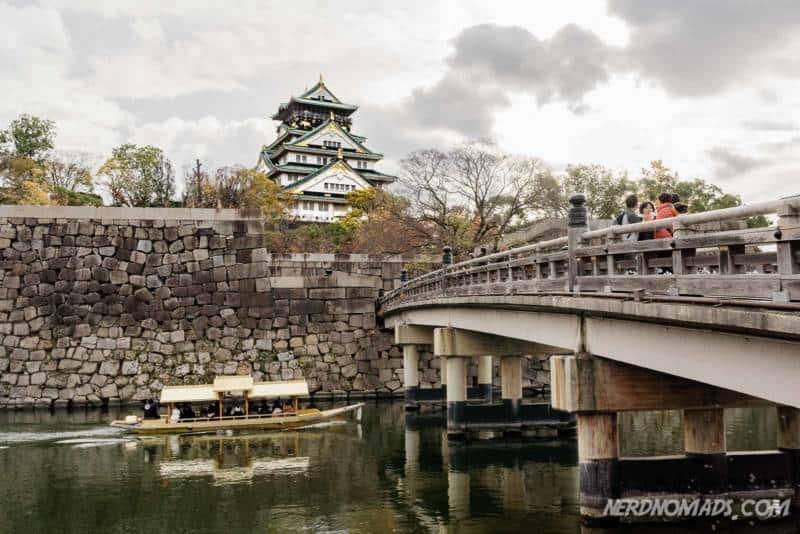 Bridge at Osaka Castle in Osaka, Japan