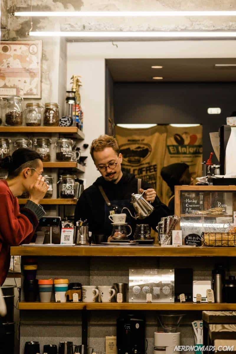Hipster coffee shop in Amerikamura Osaka