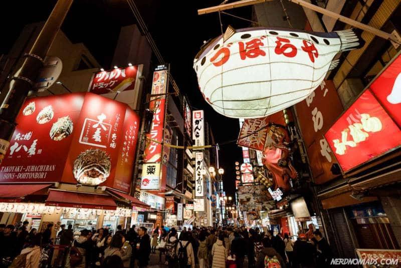 Dotombori Neon Area Osaka Japan