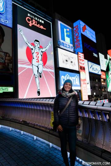 Glico Running Man at Dotombori River Osaka Japan