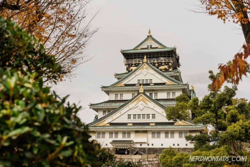 Autumn at Osaka Castle in Osaka, Japan