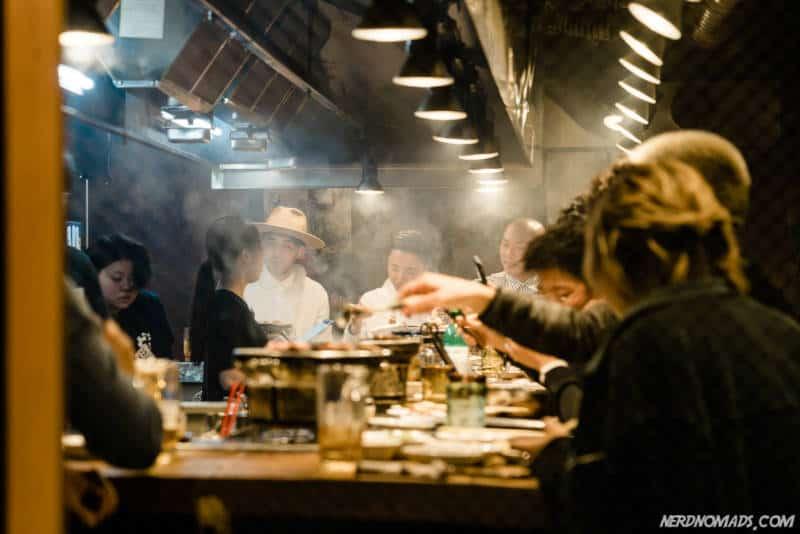 Cozy restaurant in Amerikamura Osaka