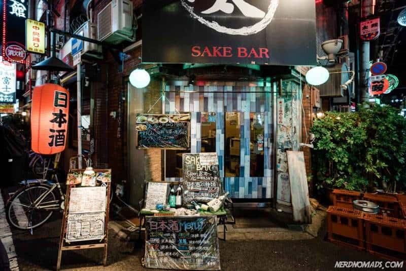 A sake bar in Amerikamura Osaka