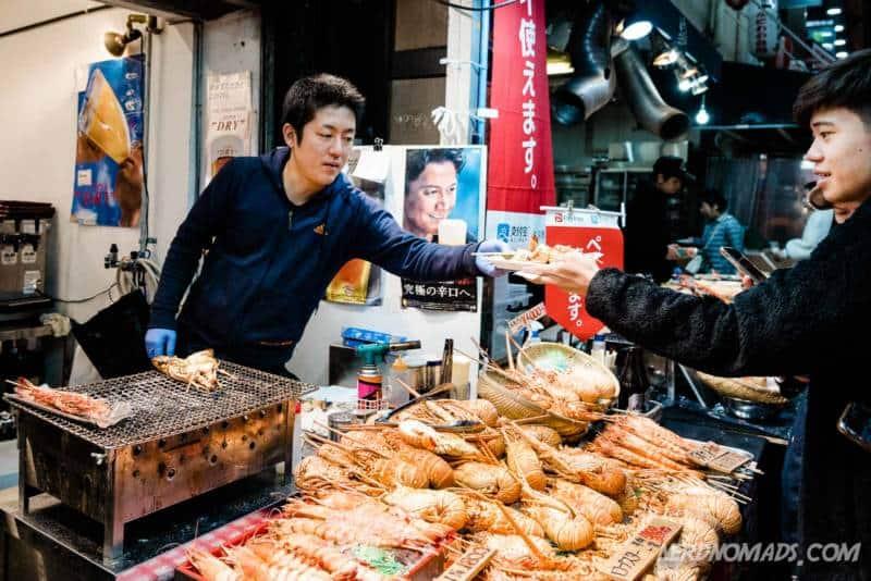 Kuromon Ichiba Market Osaka, Japan