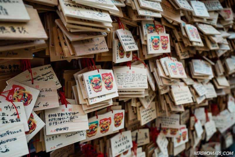 Prayer cards at Namba Yasaka Shrine in Osaka
