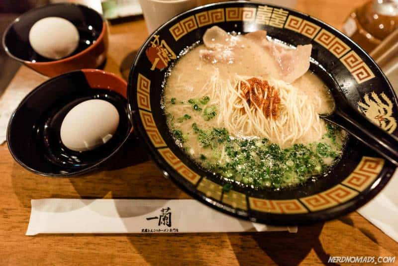 Japanese Noodle Soup at Ichiran Ramen, Osaka, Japan