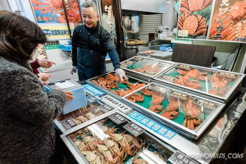 Crabs at Omicho Market Kanazawa
