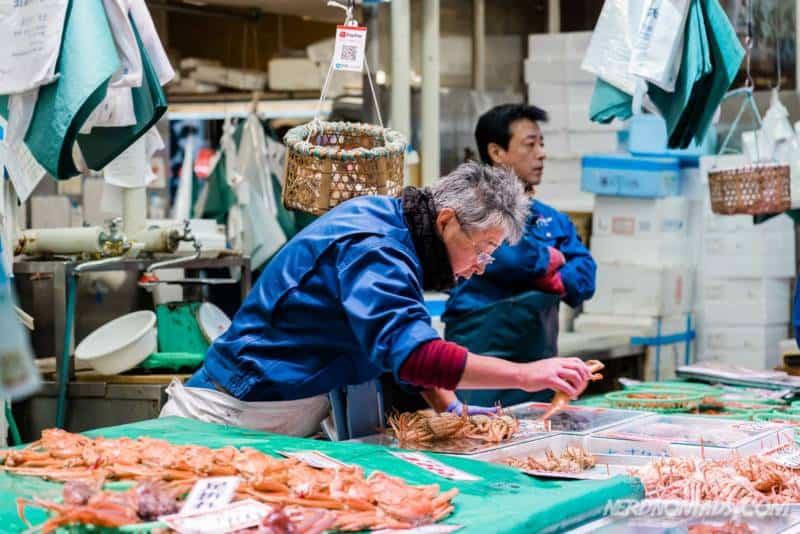 Fresh fish at Omicho Market Kanazawa