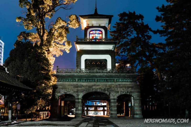 Entrance Gate Oyama Shrine Kanazawa