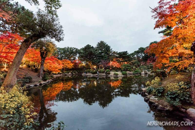 Autumn leaves in Shukkeien Garden Hiroshima