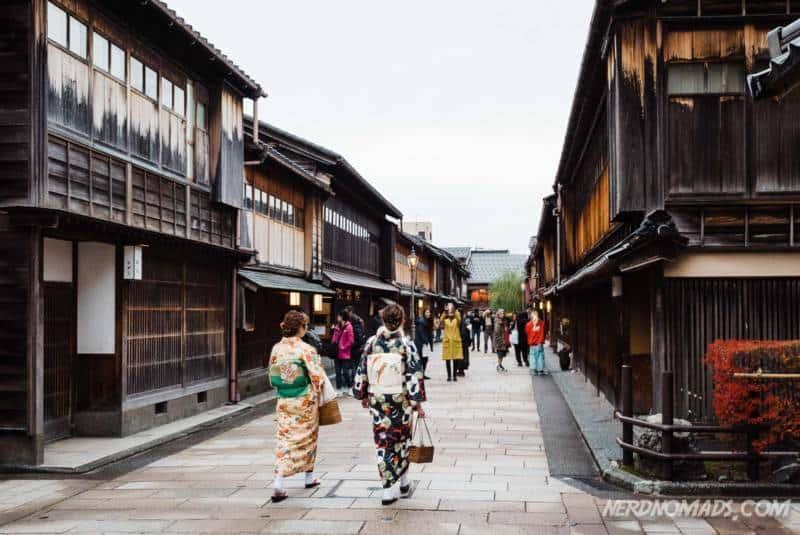 Geisha tea house in Higashi Chaya District Kanazawa