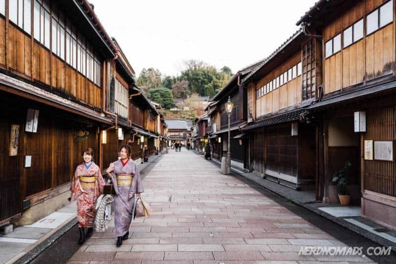 Main street Higashi Chaya Geisha District Kanazawa