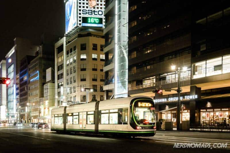 Hiroshima has a fast and convenient electrical railway tram system