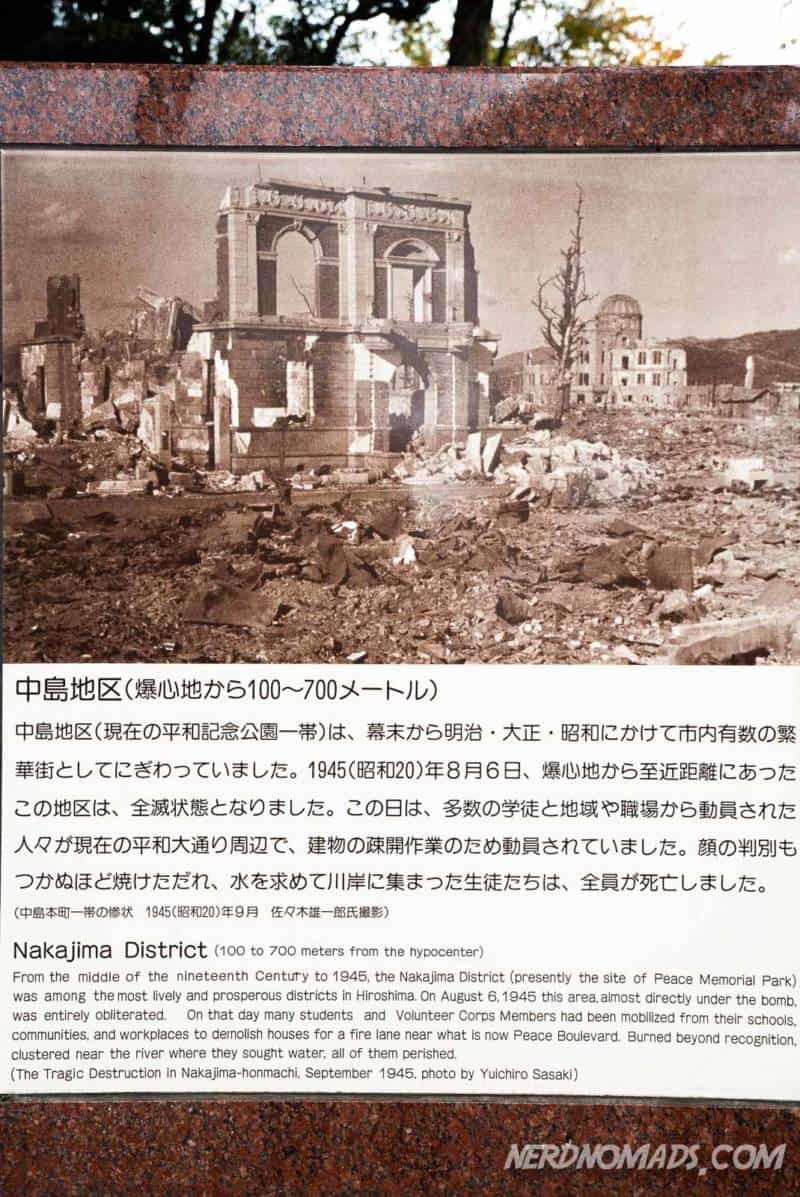 Hiroshima city was totally destroyed by the atomic bomb in 1945