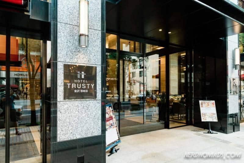 Hotel Trusty Kanazawa entrance