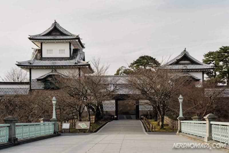 Kanazawa Castle and Bridge, Kanazawa, Japan
