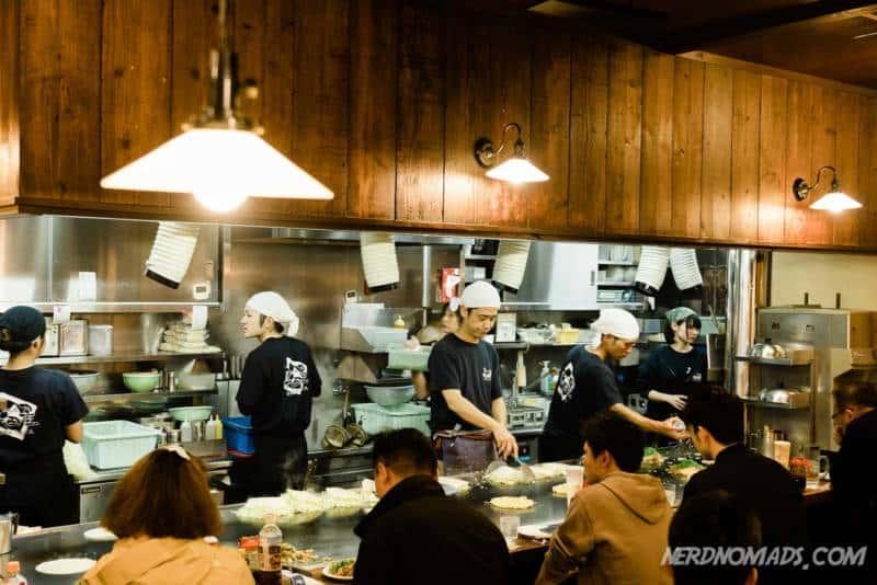 Inside Nagataya Restaurant Hiroshima