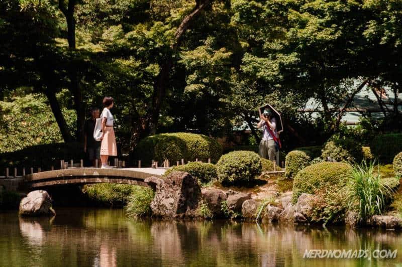 Nijibashi Rainbow Bridge in Kenrokuen Garden Kanazawa