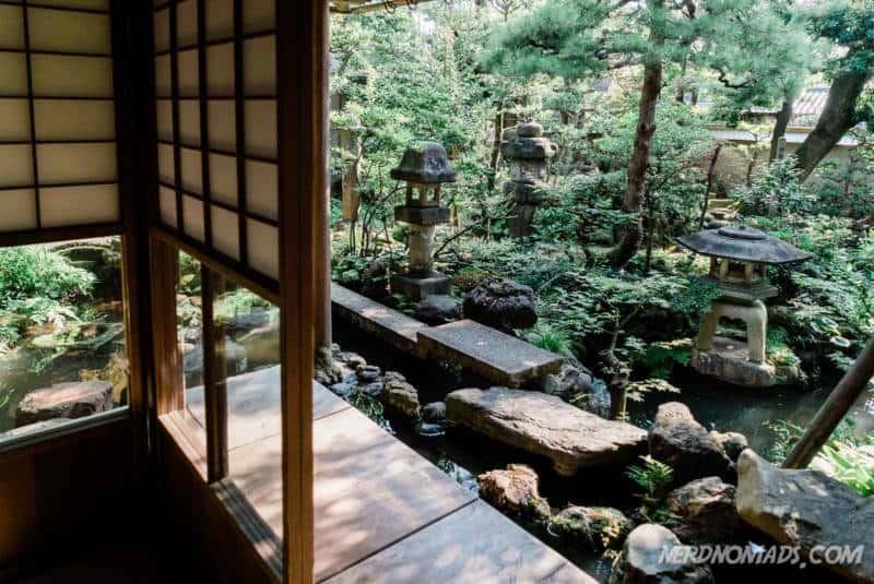 The beautiful garden at Nomura Samurai House Kanazawa