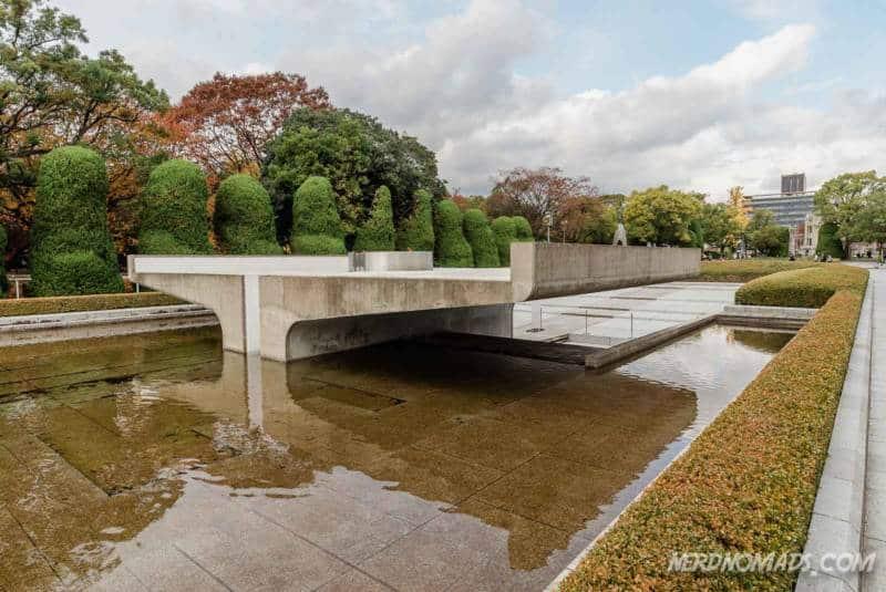 Pond of Peace in Hiroshima Memorial Peace Park