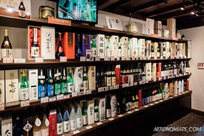 Sake in Higashi Chaya Geisha District Kanazawa