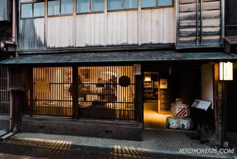 Sake shop in Higashi Chaya Geisha District Kanazawa