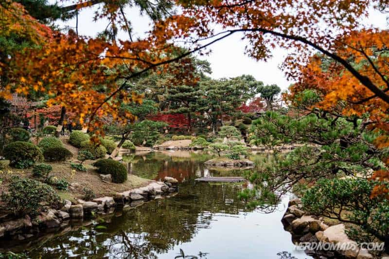 Lovely autumn colors in Shukkeien Garden Hiroshima Japan