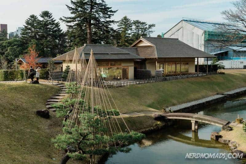 Tea house at Gyokusen Inmaru Garden Kanazawa