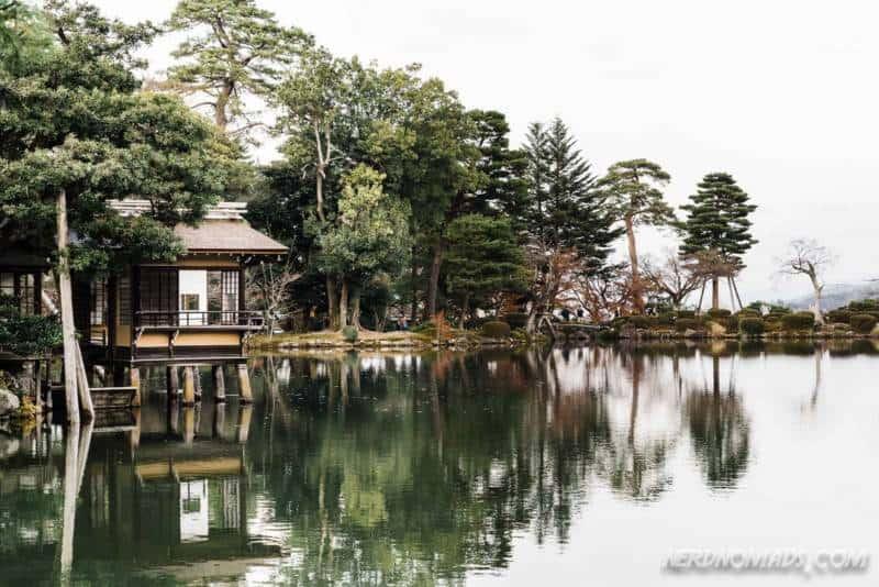 Tea house in Kenrokuen Garden Kanazawa
