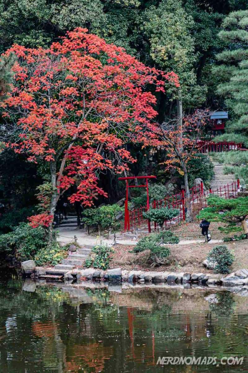 Torii gate at Shukkeien Garden Hiroshima Japan
