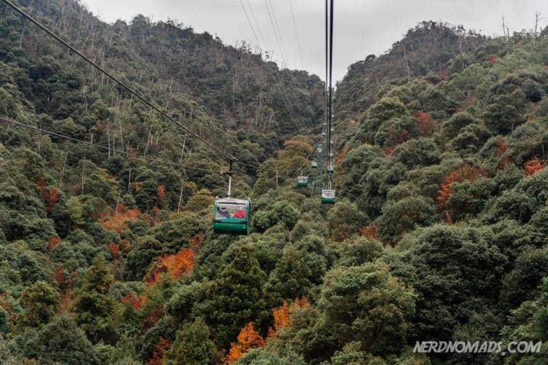 Cable car at Mount Misen Miyajima Ropeway
