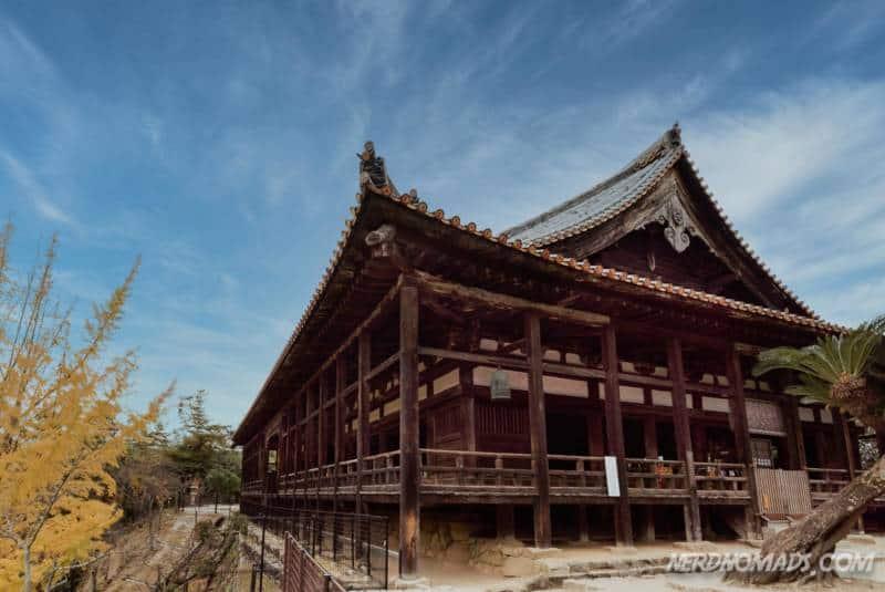 The beautiful wooden Senjokaku Pavilion Miyajima Hiroshima Japan