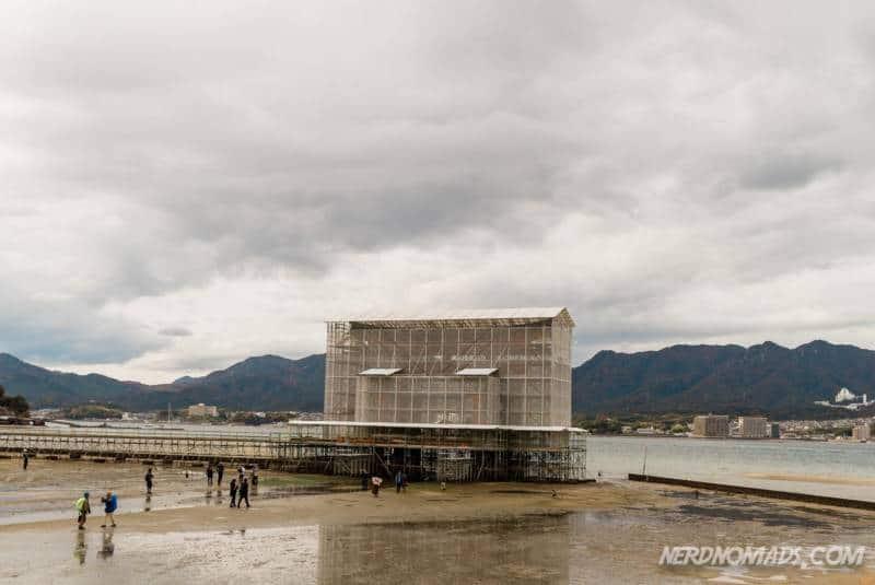 Floating gate under construction at Miyajima Island