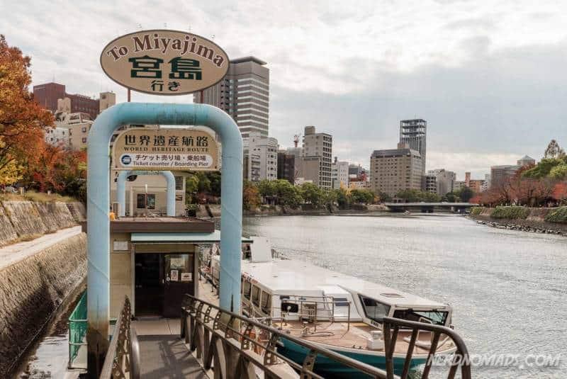 The high speed ferry from Hiroshima Peace Park directly to Miyajima Island